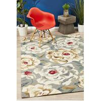 Rug Culture Gorgeous Peony Grey Indoor Outdoor Floor Area Rugs COP-597-GRY-225X155cm