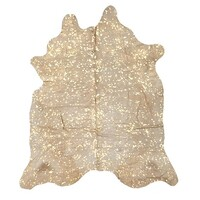 Rug Culture Exquisite Natural Cow Hide Gold 170x180cm COWHIDE-GOLD