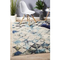 Maroc Transitional Modern Floor Area Rug Blue  CRY-1850-BLU-400X300cm