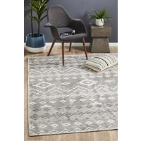 Rug Culture Castle Bella Tribal Woven Floor Area Rugs Charcoal Grey CSL-820-CHAR-400X300cm