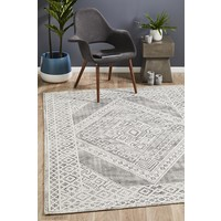 Rug Culture Castle Millie Transitional Black White Grey Floor Area Rugs CSL-830-BLWH-225X155cm