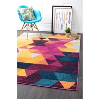 Rug Culture Divinity Triangle Multi Modern Floor Area Rugs DIM-423-MUL-230X160cm