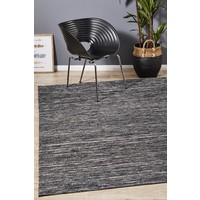 Rug Culture Eliza Stunning Flat Woven Floor Area Rugs Charcoal  ESC-CHAR-225X155cm