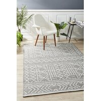 Rug Culture Arya Stitch Woven Floor Area Rug Silver Grey  HUD-807-GRY-225X155cm