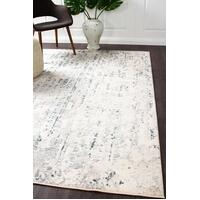 Rug Culture Farah Distressed Contemporary Floor Area Rugs White Blue Grey  KEN-1732-WHI-400X300cm