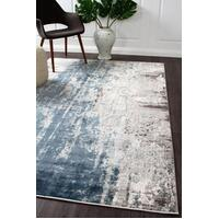 Rug Culture Roxana Distressed Timeless Floor Area Rugs Blue Grey White  KEN-1733-BLU-400X300cm