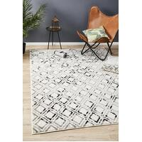 Rug Culture Jordyn Modern Floor Area Rug White Black Grey  MET-607-BLWH-230X160cm