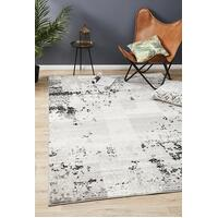 Rug Culture Alicia Modern Distressed Floor Area Rugs Grey Black Silver  MET-611-CHAR-330X240cm