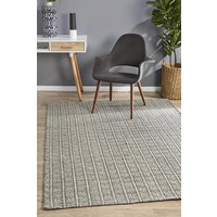 Rhythm Lyric Grey Floor Area Rug  MIL-742-GRY-225X155cm