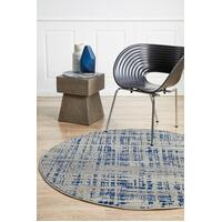 Rug Culture Ashley Abstract Modern Floor Area Rugs Blue Grey  MIR-352-NAV-240X240cm