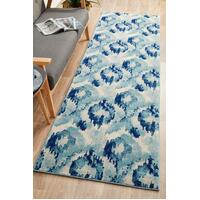 Rug Culture Lesley Whimsical Runner Rugs Blue MIR-353-BLU-400X80cm