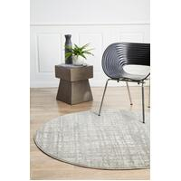 Rug Culture Ashley Abstract Modern Floor Area Rugs Silver Grey  MIR-354-SIL-150X150cm