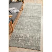 Rug Culture Ashley Abstract Modern Runner Rugs Silver Grey MIR-354-SIL-300X80cm