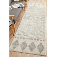 Rug Culture Adani  Modern Tribal Design Runner Rug Grey MIR-359-GRY-500X80cm