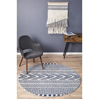 Rug Culture Adani  Modern Tribal Design Floor Area Rugs Navy  MIR-359-NAV-200X200cm