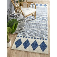 Rug Culture Adani  Modern Tribal Design Runner Rugs Navy MIR-359-NAV-300X80cm