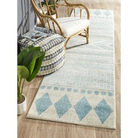 Rug Culture Adani  Modern Tribal Design Runner Rugs sky Blue MIR-359-SKY-500X80cm