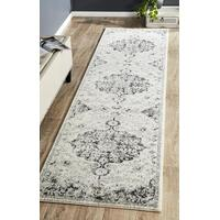 Museum Transitional Charcoal Runner Rug MUS-860-CHAR-500X80cm