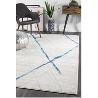 Noah White Blue Contemporary Floor Area Rug  OAS-452-BLUE-330X240cm