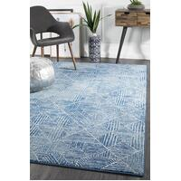 Kenza Contemporary Navy Floor Area Rug  OAS-457-NAVY-400X300cm