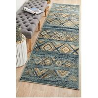 Rug Culture Mayfair Contrast Blue Runner Rugs OXF-430-BLU-300X80cm