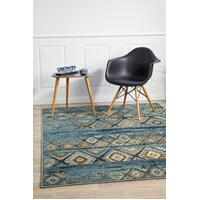 Rug Culture Mayfair Contrast Blue Floor Area Rugs OXF-430-BLU-330X240cm