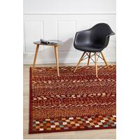 Rug Culture Mayfair Squares Rust Floor Area Rugs OXF-431-RUS-230X160cm