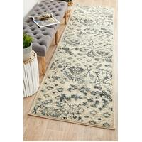Rug Culture Mayfair Illusion Blue Runner Rugs OXF-432-BLU-400X80cm