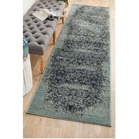 Rug Culture Mayfair Edge Denim Runner Rugs OXF-435-DEN-300X80cm