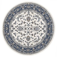 Rug Culture Aisha Oriental Round Floor Area Rugs White Blue  PAL-20-WBLU-150X150cm