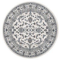 Rug Culture Aisha Oriental Round Floor Area Rugs White White  PAL-20-WW-200X200cm