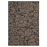 Independence Indoor Outdoor Modern Black Floor Area Rug  PAV-9504-BL-160X110cm