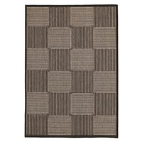 Rug Culture Witchery Indoor Outdoor Modern Black Floor Area Rugs PAV-9633-BL-160X110cm