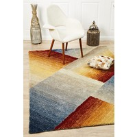Rug Culture Haley Textured Rust Grey Multi Coloured Floor Area Rugs PRI-582-RST-225X155cm