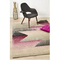 Rug Culture Penny Pink Grey Textured Multi Coloured Floor Area Rugs PRI-583-PNK-320X230cm
