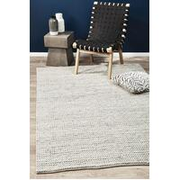 Rug Culture Carina Felted Wool Woven Floor Area Rugs STUD-327-WHI-280X190cm