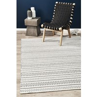 Rug Culture Ester Delicate Lace Woollen Floor Area Rugs Ivory Grey  STUD-328-SIL-225X155cm
