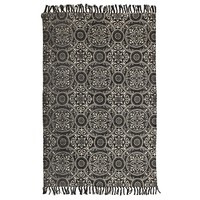Totemic Dynasty Black Floor Area Rug  ZUL-5832-BLK-220X150cm