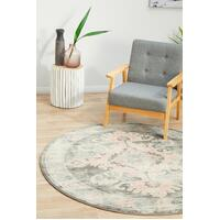 Rug Culture AVENUE 701 Floor Area Carpeted Rug Modern Round Grey 200X200cm
