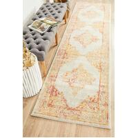 Rug Culture AVENUE 702 Floor Area Carpeted Rug Modern Runner Yellow 400X80cm