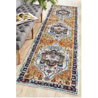 Rug Culture Babylon 201 Floor Area Carpeted Rug Modern Runner Rust 400X80cm