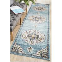 Rug Culture Babylon 202 Floor Area Carpeted Rug Modern Runner Blue 400X80cm