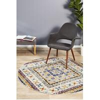 Rug Culture Babylon 203 Floor Area Carpeted Rug Modern Round White 240X240cm