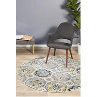 Rug Culture Babylon 204 Floor Area Carpeted Rug Modern Round Blue 240X240cm