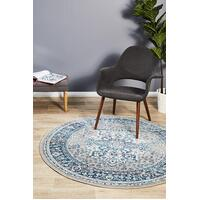 Rug Culture Babylon 207 Floor Area Carpeted Rug Modern Round Blue 150X150cm