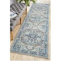 Rug Culture Babylon 207 Floor Area Carpeted Rug Modern Runner Blue 400X80cm