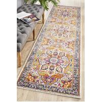 Rug Culture Babylon 207 Floor Area Carpeted Rug Modern Runner Multi 400X80cm