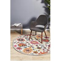 Rug Culture Babylon 208 Floor Area Carpeted Rug Modern Round Multi 200X200cm