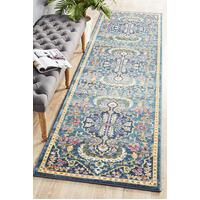 Rug Culture Babylon 209 Floor Area Carpeted Rug Modern Runner Navy 500X80cm
