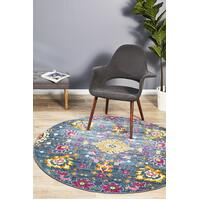 Rug Culture Babylon 210 Floor Area Carpeted Rug Modern Round Blue 200X200cm